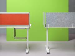 Pannello divisorio da scrivania fonoassorbente in tessuto riciclatoDivisorio ufficio fonoassorbente - PLANNING SISPLAMO