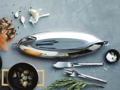 Pesciera ovale in acciaio inox con coperchioPesciera - SAMBONET PADERNO INDUSTRIE