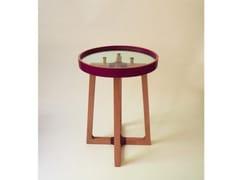 Tavolino rotondo in legno e vetroSTREET OF TANGIER - ATELIER C.U.B