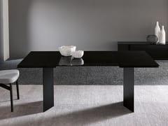Tavolo allungabile rettangolare in vetro e metalloT-AB - T.D. TONELLI DESIGN