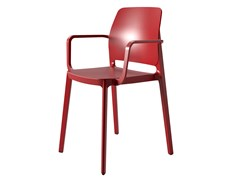 Sedia impilabile in tecnopolimero con braccioliT!PA | Sedia con braccioli - POINTHOUSE