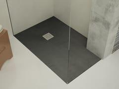 Archiproducts.com, EVER - T-STONE Anthracite Piatto doccia filo pavimento