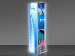 GEPROM design, T-TOTEM LED Espositore trifacciale