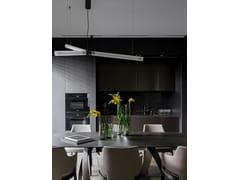 Cucina lineare a scomparsa con penisola in gresT45   Cucina con penisola - TM ITALIA CUCINE
