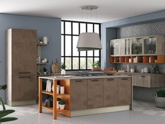 Cucina componibile con isola TABLET BRIDGE - CREO KITCHENS BY LUBE