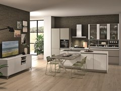 Cucina con isola con maniglie integrate TABLET | Cucina con isola - CREO KITCHENS BY LUBE