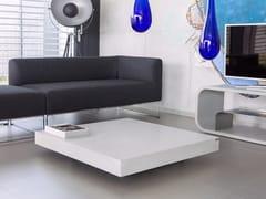 Tavolino quadrato in calcestruzzo con ruoteTABULA ALTUS - CO33
