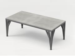 Tavolo rettangolare in calcestruzzo con base in acciaioTABULA CIBUS MAGNO - CO33