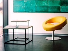 Set di tavolini in acciaio e calcestruzzoTABULA DUPLEX - CO33