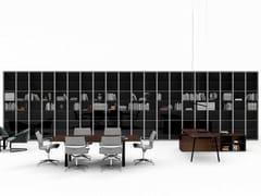 Libreria ufficio a giorno modulare in vetro temperatoTAKE OFF   Libreria ufficio in vetro temperato - BRALCO