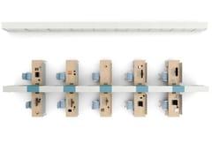 Postazione di lavoro in nobilitato con pannelli divisori con scaffale integratoTAKE OFF   Postazione di lavoro in nobilitato - BRALCO