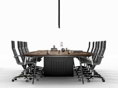 Tavolo da riunione modulare in rovereTAKE OFF   Tavolo da riunione in rovere - BRALCO