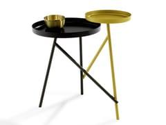 Tavolino rotondo in metallo con vassoioTANGO - DRAENERT