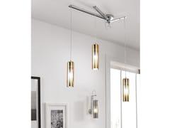 Lampada a sospensione in vetro borosilicato metallizzatoTAO | Lampada a sospensione a luce diretta - CANGINI & TUCCI