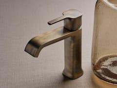 Miscelatore per lavabo da piano monoforoTAORMINA BRUSHED DARK BRONZE - RUBINETTERIE RITMONIO