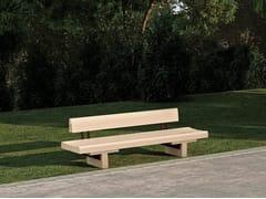Panchina con schienaleTAULA - ULMA ARCHITECTURAL SOLUTIONS