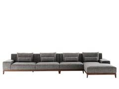 Divano in tessuto con chaise longue TEATRO | Divano con chaise longue - Teatro