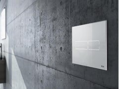 Placca di comando per wc in cristalloTECElux Mini - TECE ITALIA