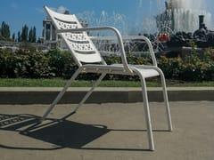 Seduta da esterni in acciaio verniciato a polvereTECHNO | Seduta da esterni - PUNTO DESIGN