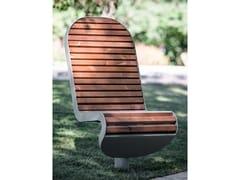 Seduta da esterni in acciaio e legnoTECHNO | Seduta da esterni - PUNTO DESIGN