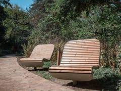 Seduta da esterni in acciaio e legnoTECHNO | Seduta da esterni in acciaio e legno - PUNTO DESIGN