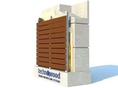 Facciata ventilata in alluminioTECHNOWOOD CLICK FAÇADE SYSTEM - TECHNOWOOD