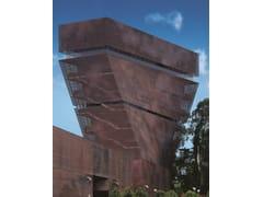 Pannello con effetti tridimensionali per facciate in rameTECU® Design_shape - KME