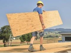 Pannello per la costruzione della struttura portante del tettoTEGODECK ROOFING BOARD OSB A INCASTRO - TEGOLA CANADESE S.P.A.