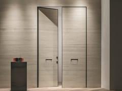 Porta blindata a doppia anta con finitura cementoTEKNO | Porta d'ingresso in cemento - OIKOS VENEZIA