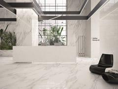 EmilCeramica by Emilgroup, TELE DI MARMO STATUARIO MICHELANGELO Pavimento/rivestimento effetto marmo per interni