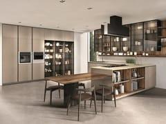 Cucina laccata con penisola TELERO | Cucina con penisola -