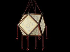 Lampada a sospensione in seta TEMPIO - SILK LAMPS