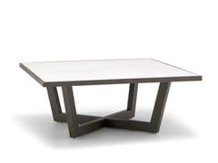 Tavolino da caffè quadrato in acciaio con piano in ceramicaTERRA ME4693 - ANDREU WORLD
