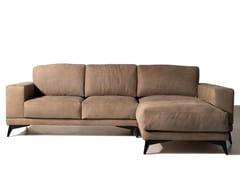 Divano componibile in pelle con chaise longueTESLA | Divano con chaise longue - MANTELLASSI DESIGN