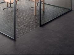 Pavimento/rivestimento in gres porcellanato effetto tessutoTEXTILE EXTRA DARK - CERAMICHE MARCA CORONA