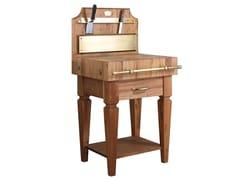 Tagliere in legno massello a gambe squadrateTGL002 | Modulo cucina freestanding - OFFICINE GULLO