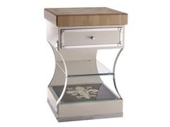 Tagliere in legno massello su struttura in acciaoTGL006 | Modulo cucina freestanding - OFFICINE GULLO