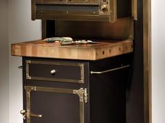 Modulo cucina freestanding in acciaio inox con cassettiTGL007 | Modulo cucina freestanding - OFFICINE GULLO