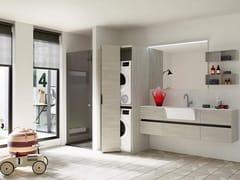 Mobile lavanderia con lavatoio per lavatriceTHAI 325 - RAB ARREDOBAGNO