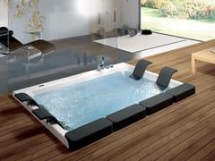 Vasca Da Bagno Ad Incasso : Vasca da bagno a posti idromassaggio rotonda alise blu bleu