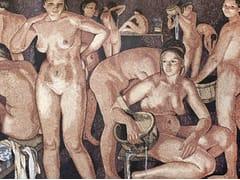 Mosaico in marmo THE BATH I – OMAGGIO A SEREBRIAKOVA - Artistic