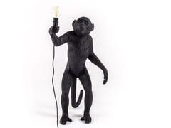 Lampada da terra a LED in resinaTHE MONKEY LAMP BLACK STANDING - SELETTI