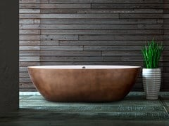 Vasca da bagno centro stanza ovale THE ORIGINAL STONE ONE - AQUADESIGN STUDIO