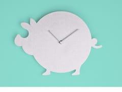 Orologio in alluminio da parete THE PIG -