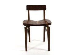 Sedia in noce THE WALNUT BUTCHER BLOCK CHAIR - Lofted