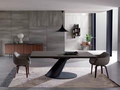 Tavolo allungabile da pranzo rettangolare in cemento THOR | Tavolo in cemento -
