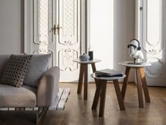 Tavolino rotondo in marmo e legnoTHREE TABLE - HOME DESIGN BY FRANCHI UMBERTO MARMI