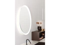 ARBLU, TIBÒ Specchio basculante in metallo da parete