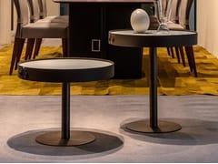 Tavolino rotondo in metallo e pelleTIGHT - ZANI COLLEZIONE POLTRONE DI ZANI PAOLA