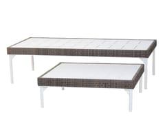 Tavolino da giardino rettangolare in metalloTIIVIS - ALANKARAM